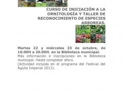 Curso de iniciación a la ornitología y taller de reconocimiento de especies arbóreas, en Talamanca de Jarama