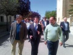 El secretario regional del PSOE, Emiliano García Page, visitó Uceda