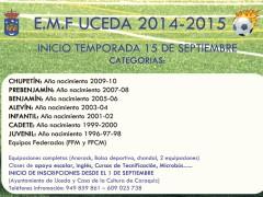 Comienza la temporada de la Escuela Municipal de Fútbol de Uceda 2014/2015
