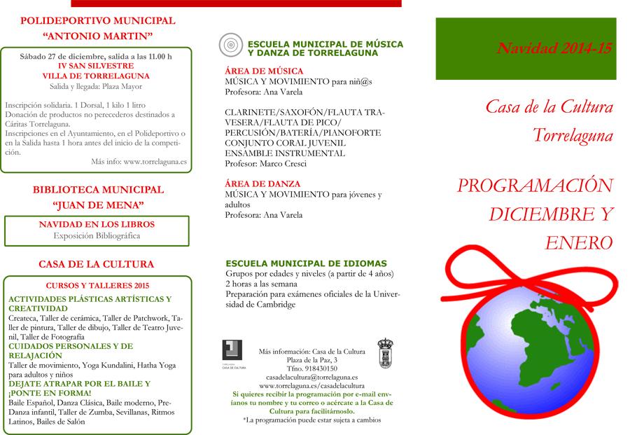 programacion navidad 2014 Torrelaguna