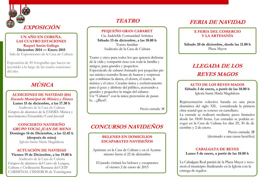 Programación Navideña 2014 en Torrelaguna