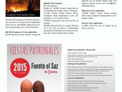 Programa de fiestas de Fuente el Saz 2015