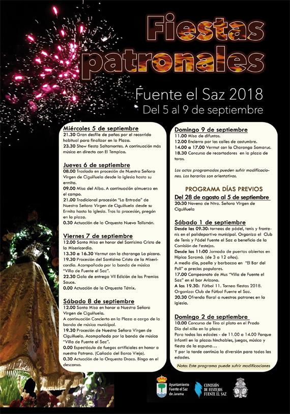 Fiestas de Fuente el Saz 2018