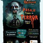 Pasaje túnel del terror, en Halloween 2019 de Talamanca de Jarama