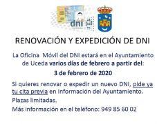 Oficina móvil para la renovación del DNI en Uceda