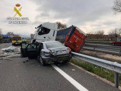 La Guardia Civil de Guadalajara detiene al conductor de un camión que superó en más de ocho veces la tasa de alcoholemia