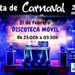 Discoteca móvil, en El Casar, para celebrar los Carnavales 2020