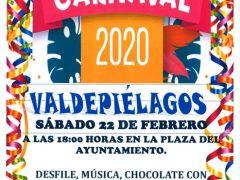 Valdepiélagos celebra sus Carnavales 2020 con desfile, música, concurso y chocolate con churros