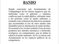 El Ayuntamiento de Valdepiélagos sustituye herbicidas contaminantes por ecológicos