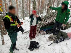 Rescatadas dos personas en Cotos que habían salido a la sierra pese a la prohibición decretada por el Estado de Alarma