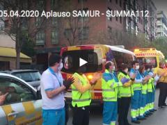 Aplauso conjunto del SAMUR-Protección Civil y SUMMA 112 para el médico Luis Pérez, fallecido por coronavirus