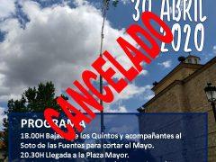 Se cancela el «Día del Mayo» de Uceda por el coronavirus