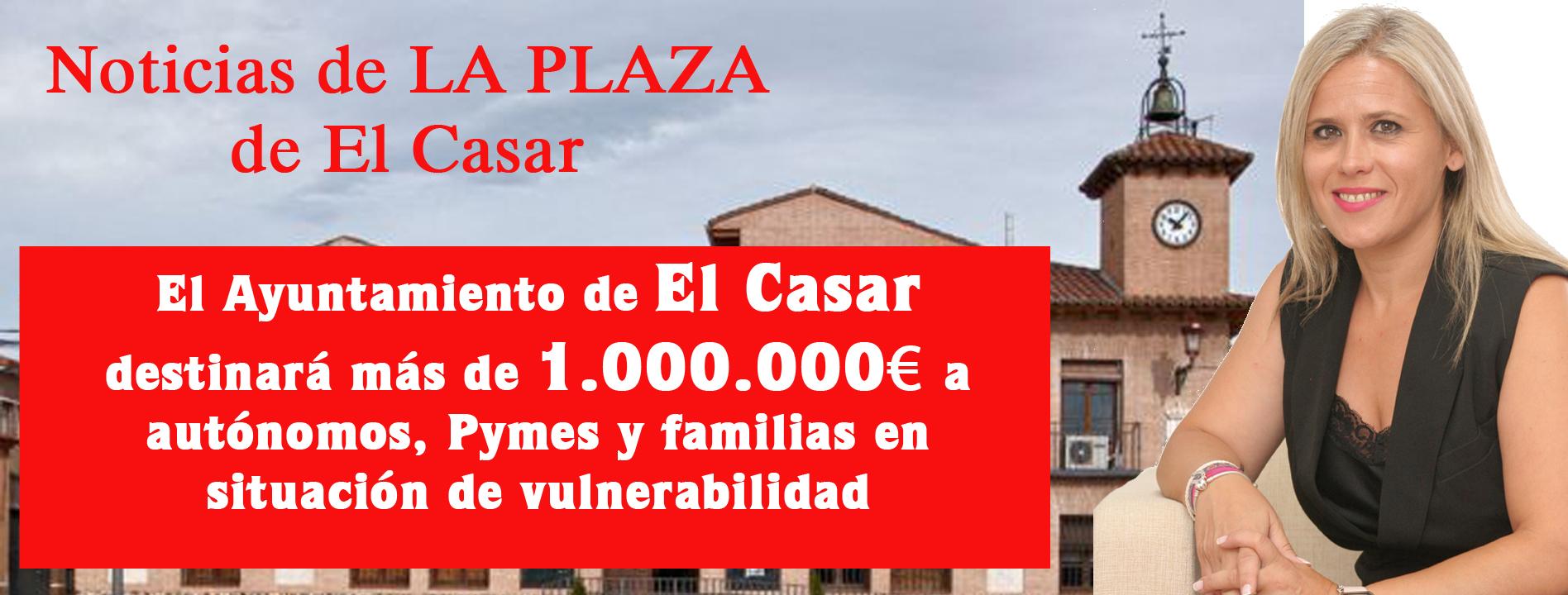 El Ayuntamiento de El Casar destinará más de 1.000.000 euros a autónomos, Pymes y familias en estado de vulnerabilidad