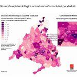 La Comunidad de Madrid publica un mapa del coronavirus municipio por municipio