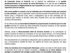 El Ayuntamiento de Fuente el Saz proveerá a todos los vecinos de mascarillas