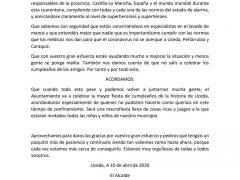 El alcalde de Uceda publica un bando para los más pequeños por ser «los más responsables del mundo» en este estado de alarma