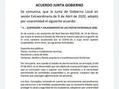 Las Fiestas Patronales de San Isidro Labrador de Valdepiélagos se suspenden y aplazan