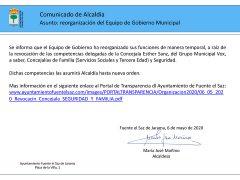 El Ayuntamiento de Fuente el Saz revoca de sus competencias a la concejala de Vox y se rompe el pacto de Gobierno