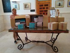 El Ayuntamiento de Uceda recibe material para confeccionar 2000 mascarillas de adulto y 1000 infantiles
