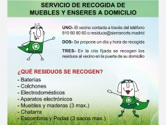 El Ayuntamiento de Valdepiélagos comunica que se reanuda el servicio de recogida de residuos no habituales de la Mancomunidad