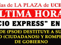El alcalde de Uceda (PSOE) destituye a su socio de Gobierno (Ciudadanos) rompiendo la coalición