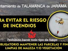 El Ayuntamiento de Talamanca de Jarama pide a los vecinos que limpien sus parcelas para evitar incendios