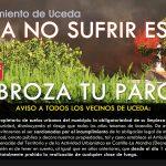El Ayuntamiento de Uceda publica un bando sobre la obligatoriedad de limpieza de parcelas