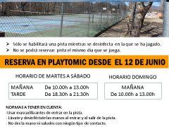 El Ayuntamiento de Uceda abre las pistas de padel y tenis de Caraquiz
