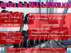 Talamanca de Jarama vuelve a abrir su sala de musculación