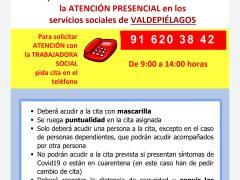 Los Servicios Sociales de Valdepiélagos retoman su actividad a partir del 22 de junio