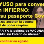 Ayuso y sus mascarillas y pasaporte Covid-19, contra lo que dice la OMS, mientras Sánchez no descarta el confinamiento en agosto