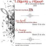 Talamanca de Jarama ofrece «Clásicos en Verano 2020» dos sábados de julio