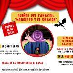 El Ayuntamiento de El Casar ofrece un espectáculo de títeres, como programación cultural del verano 2020