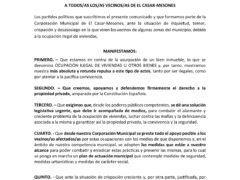 El Ayuntamiento de El Casar firma un manifiesto de repulsa contra la okupación ilegal de viviendas