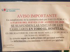 Un hospital de Madrid, el primero en suspender las visitas familiares a enfermos