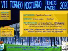 Talamanca de Jarama organiza su «VII Torneo Nocturno de Tenis – Padel»