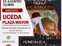 Uceda celebra el tributo musical «Pongamos que hablo de Joaquín Sabina»