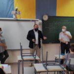 El alcalde de Valdetorres de Jarama recibe a los nuevos alumnos de 1º de la ESO en el CEIPS Jesús Aramburu