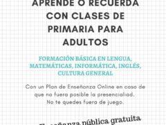 Formación básica de Primaria para adultos en Valdetorres de Jarama