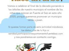Fuente el Saz plantará un árbol por cada niño nacido en el 2020 y llevará su nombre
