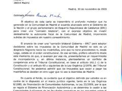 La Comunidad de Madrid remite una carta a la ministra de Hacienda en relación con la autonomía fiscal madrileña