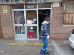 Valdetorres de Jarama vuelve a desinfectar las calles del municipio frente al Covid-19