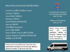 El Microbús de Caraquiz (Uceda) organiza un recorrido provisional ante el estado de las carreteras
