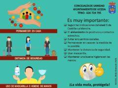 El alcalde de Uceda informa sobre el alto nivel de contagios de Covid-19 en el municipio