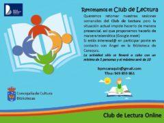 Las Bibliotecas de Uceda organizan el Club de la Lectura on line