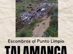 El Ayuntamiento de Talamanca de Jarama pide encarecidamente que nadie vierta escombros