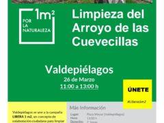 El Ayuntamiento de Valdepiélagos organiza una jornada de limpieza del Arroyo de las Cuevecillas
