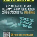 Las Intervenciones de Armas y Explosivos de la Guardia Civil ya informan a los ciudadanos por e-mail y SMS