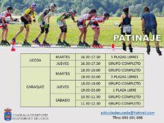 Comienzan las clases de patinaje en Uceda el próximo 6 de mayo