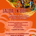 El Ayuntamiento de Talamanca de Jarama organiza una salida en bici para el martes 4 de mayo
